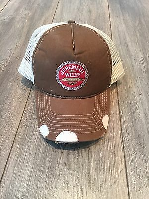Jeremiah Weed Baseball Hat Cap Adjustable Back Strap Trucker Style non conform