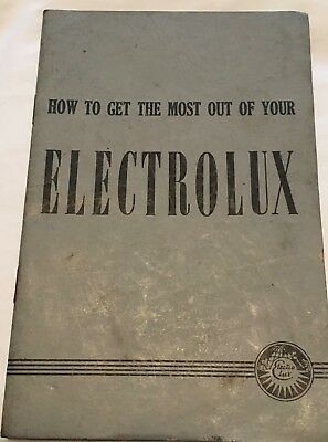 vintage electrolux vacuum cleaner user manual 1950s