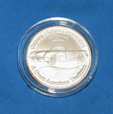 Vtg General Motors GM Ambassadors 1953 Chevrolet Corvette .999 Silver Round Coin