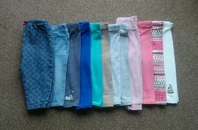 NEXT MOTHERCARE girls trousers / leggings bundle age 9-12 months