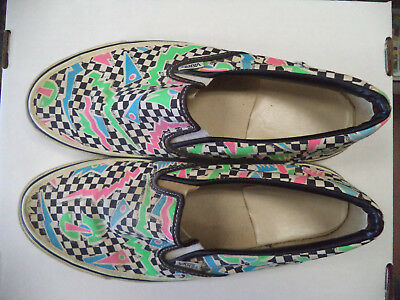 Vintage Vans #98 Geo-Check Print Shoes, Made in the USA