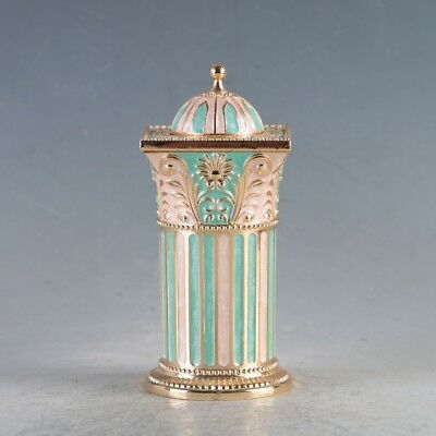 Chinese Exquisite Cloisonne Handmade Toothpick Box  JTL3024