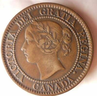 1859 CANADA CENT - AU GRADE - Awesome Early Date Coin - Lot #D12