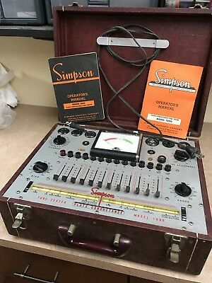 Vintage Simpson Electric Co Tube Tester Model 1000