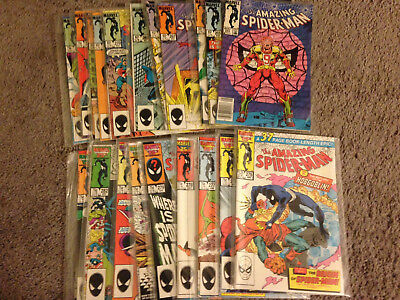 Amazing Spiderman Lot Run issues #264-283 20 issues!