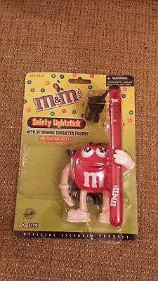M&M Collectible Halloween Safety Lightstick with Detachable Character Figurine