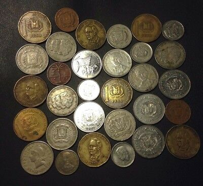 Old Dominican Republic Coin Lot - 1949-PRESENT - 31 Coins - Lot #D12