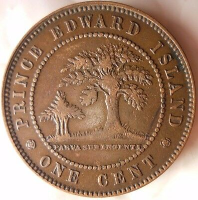 1871 PRINCE EDWARD ISLAND (CANADA) CENT - Rare High Grade Coin - Lot #D12