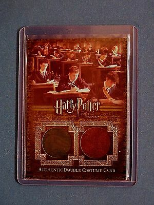 Harry Potter-OOTP-Authentic-Double Costume Card-Slytherin-Gryffindor-C15