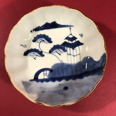 Antique chinese  porcelain blue&white plate Mid Ming 19c