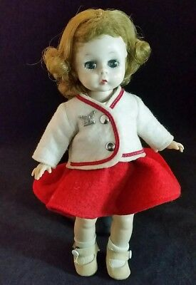VTG Madame Alexander Doll Alexander Kins Wendy Kins Red White Town Outfit 1954