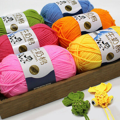 Woven Knitting wool fiber 50g skeins Crochet soft natural Milk Cotton DK Yarn