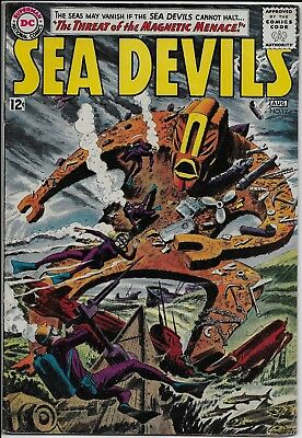 Sea Devils #12 GD+ 2.5 DC 1963 Irv Novck cvr Magnetic Menace France Herron