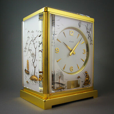 "1960's Fine Vintage Atmos ""chinoese"" By Marina Perpetual Clock Jaeger Le Coultre"