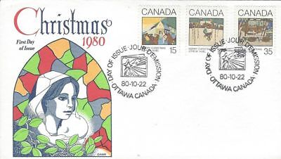 1980 Christmas #870-2 Greeting Cards FDC with Gamm cachet
