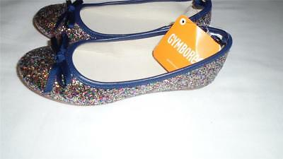NEW Big Girls Size 2 Gymboree Shoes 2016 Back To School Glitter Ballet Flats NWT