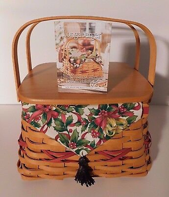 Longaberger 2000 Edition Christmas Collection Deck the Halls Basket+ Lid+Liners