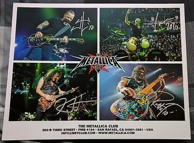 Metallica Met Club 2010 Promo 8 X 10  Photo And Fan Club Letter By Lars Ulrich