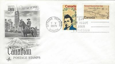 1971 #539-40 Papineau & Hearne joint release FDC with Art Craft cachet
