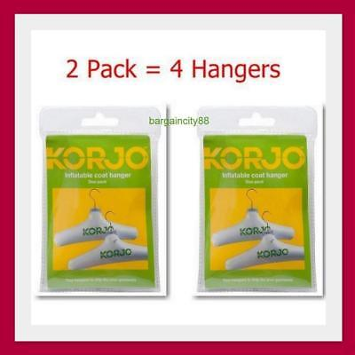 Korjo Inflatable Coat Hanger Set 2 piece (CH37D) x2 (=4 Hangers)