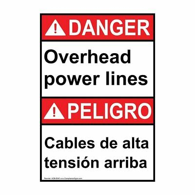 ComplianceSigns Aluminum ANSI DANGER sign, 28 x 20 in. with Electrical -...