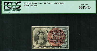 Fr-1261 $0.10 Fourth Issue Fractional Currency - 10 Cent - PCGS 65PPQ