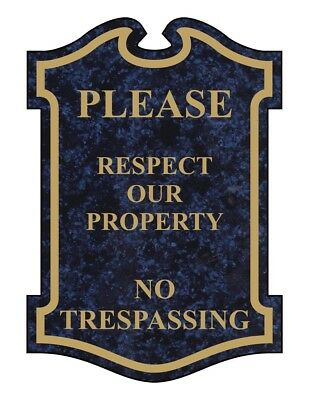 ComplianceSigns Engraved Acrylic No Trespassing Sign, 14 x 10 in. with...