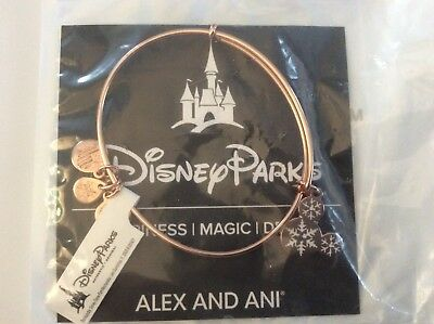 Alex and Ani Disney Parks Snowflake Mickey Ears Bracelet ROSE GOLD New With Tags