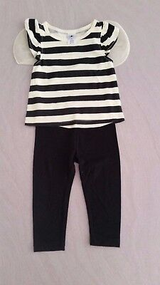 Girls 2 piece clothing set - Tshirt Top with wings & pants - Size 1 - Brand New