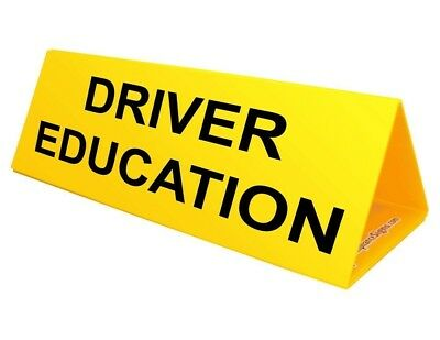 ComplianceSigns Corrugated Plastic Student Driver Car Topper, 30 x 10 with...