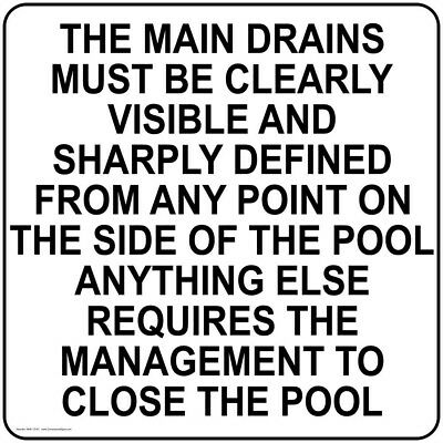 ComplianceSigns Aluminum Swimming Pool / Spa Sign, 30 x 30 in. with English...