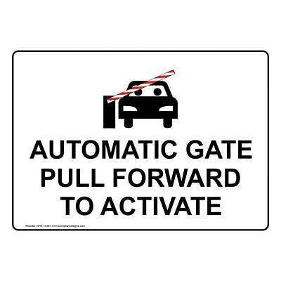 ComplianceSigns Aluminum Automatic Entrance Sign, 20 x 14 in. with English...