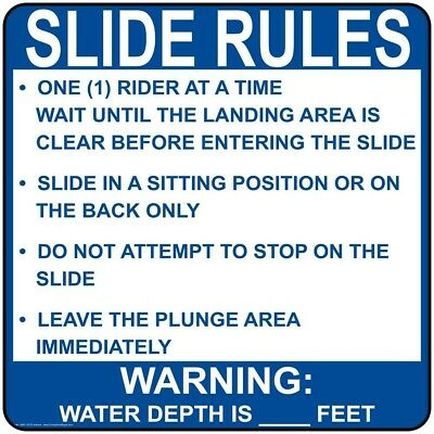 ComplianceSigns Aluminum Indiana Swimming Pool / Spa Sign, 30 x 30 with...
