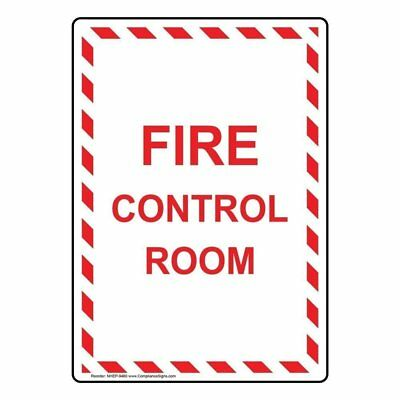 ComplianceSigns Vertical Aluminum Fire Control Room Sign, 10 X 7 in. with...