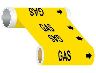 ComplianceSigns Wide Tape Roll ASME A13.1 Chemical / Gas Pipe Marker, 8 IN x...