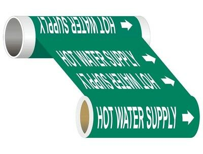 ComplianceSigns Wide Tape Roll ASME A13.1 Water Pipe Marker, 12 IN x 30 FT Green
