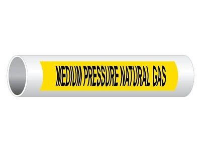 ComplianceSigns Vinyl ASME A13.1 Chemical / Gas Pipe Label, 12 x 2.5 Inch...