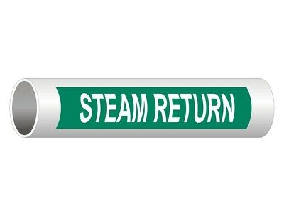 ComplianceSigns Vinyl ASME A13.1 Steam Pipe Label, 12 x 2.5 Inch Green 50-pack