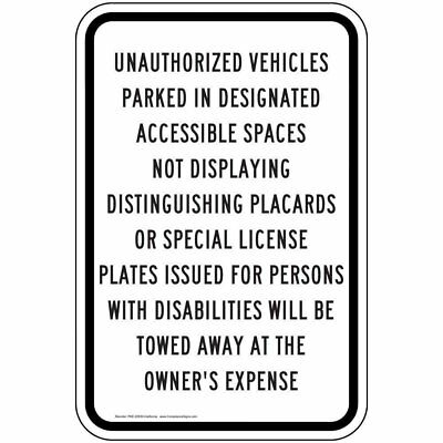 ComplianceSigns Aluminum Parking Control sign, Reflective 18 x 12 in. with...