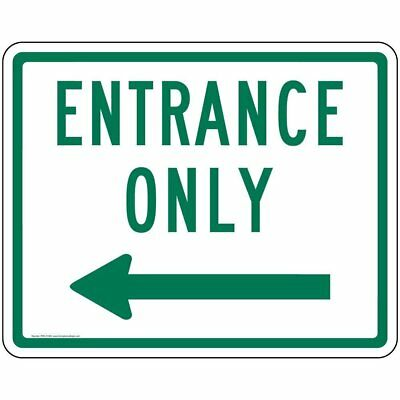 ComplianceSigns Aluminum Enter / Exit Sign, Reflective 30 x 24 in. with Enter...