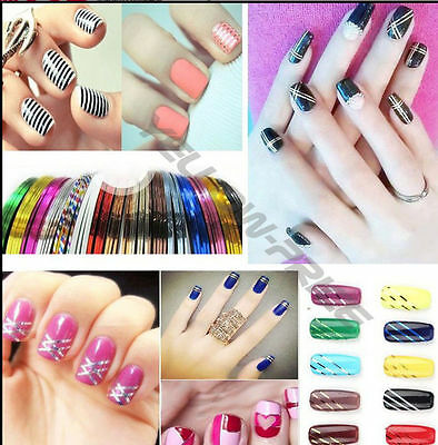 NEW 3D Multi Nail Art Stickers Decals Hot Stamping Nail Tips Decoration Tools