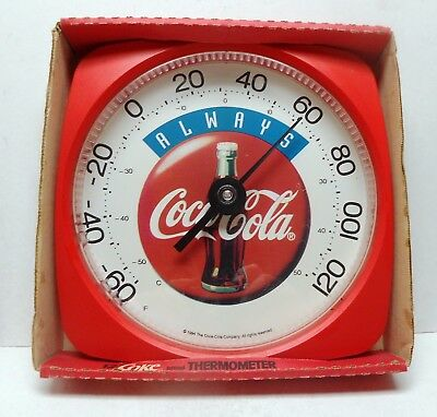"""Mint In Box 12 Inch """"always Coca-Cola"""" Thermometer - Super Find!"""