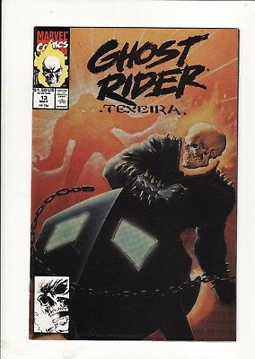 1990 Marvel Comics Ghost Rider Vol.2  #13 Signed By Artist Mark Texeira