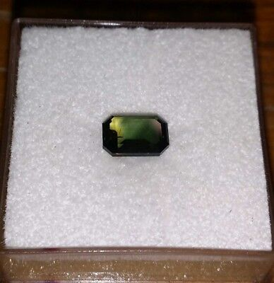 0.95 cts faceted party color blue yellow sapphire . Natural