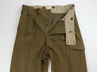 C. J. Wilson Pty. Ltd. VINTAGE 1950's Wool Military Cargo Pants Trousers 33 x 32
