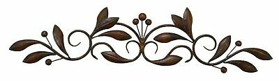 Classic Scroll Wrought Iron Metal Wall Decor Rustic Antique Rust Free