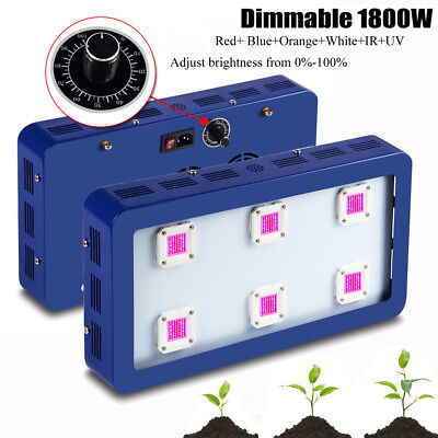 Dimmable 1800W COB LED Grow Light Kits Lamp for Plant Growing Hydroponics Seed