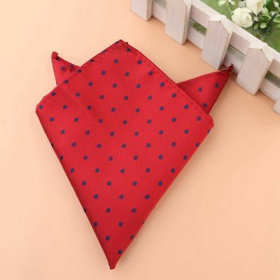 Men's Red Dot Floral Hanky Silk Pockets Square Formal Party Paisley Hankerchief