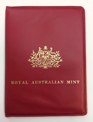 1969 Royal Australia Mint  Coin Set in Red Wallet. UNCIRCULATED