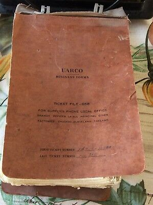 Chevrolet Buick Olds 1950 Rexburg Idaho Gas Oil Parts Cars Receipt Book